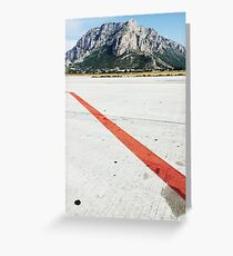 Red Line on Airfield Greeting Card
