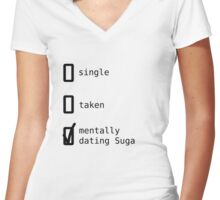 BTS - Mentally Dating Suga T-shirt femme moulant col V