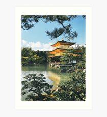 Golden Kyoto Temple Art Print