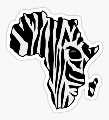 Zebra striped Africa VRS2 Sticker