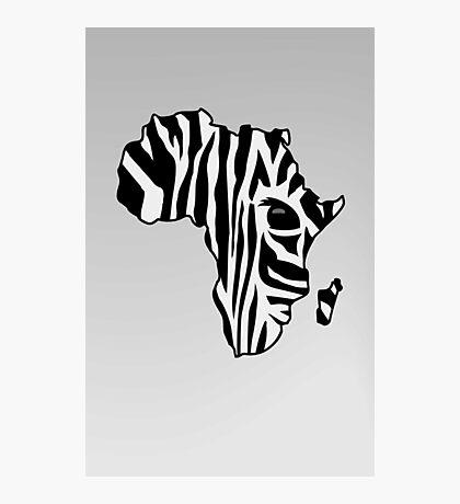 Zebra striped Africa VRS2 Photographic Print
