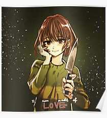 Undertale - Chara - I am made of LOVE Poster