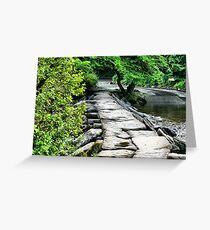 Tarr Steps Exmoor Greeting Card