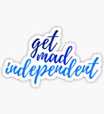 Pegatina enloquecer independiente