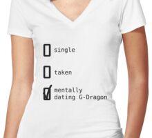 BIGBANG - Mentally Dating G-Dragon T-shirt femme moulant col V