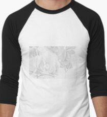 Begonias On Tray - Monochrome Men's Baseball ¾ T-Shirt