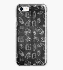 Classic Books - Black Pattern iPhone Case/Skin