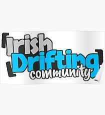 Irish Drifting Community - Blue Logo Poster