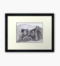 Castle and Beckett - Morning kisses Framed Print