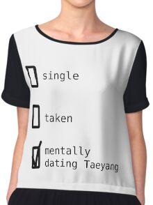 BIGBANG - Mentally Dating Taeyang Top mousseline femme