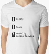 BIGBANG - Mentally Dating Taeyang T-shirt col V homme