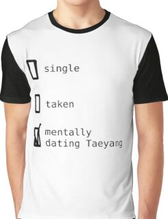 BIGBANG - Mentally Dating Taeyang T-shirt Graphique
