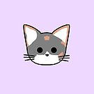 Clio Katzen Kopf - Lila von Chopsy28