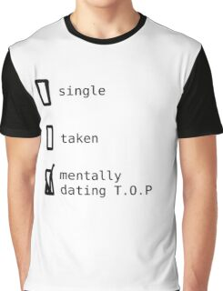 BIGBANG - Mentally Dating T.O.P T-shirt Graphique
