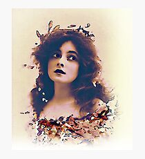 Actress in Flower Garland Photographic Print