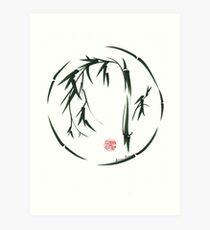 VISIONARY Original sumi-e enso ink brush wash painting Art Print