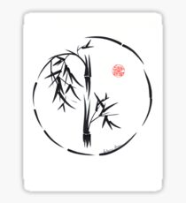 PASSAGE  - Original sumi-e enso ink brush art Sticker