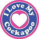 I LOVE MY COCKAPOO DOG HEART I LOVE MY DOG PET PETS PUPPY STICKER STICKERS DECAL DECALS by MyHandmadeSigns