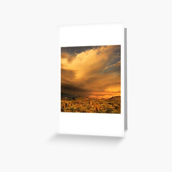 Sunrise stormfront, Tibooburra Greeting Card