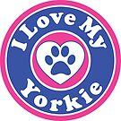 I LOVE MY YORKIE YORKSHIRE TERRIER DOG HEART I LOVE MY DOG PET PETS PUPPY STICKER STICKERS DECAL DECALS by MyHandmadeSigns