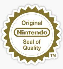 Nintendo Original Seal of Quality Sticker
