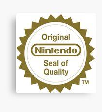 Nintendo Original Seal of Quality Canvas Print