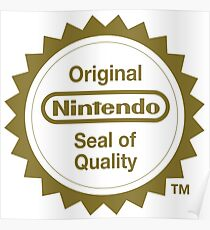 Nintendo Original Seal of Quality Poster