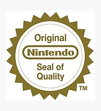 Nintendo Original Seal of Quality Photographic Print