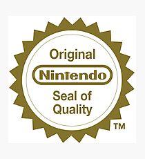 Nintendo Original Seal of Quality Photographic Print