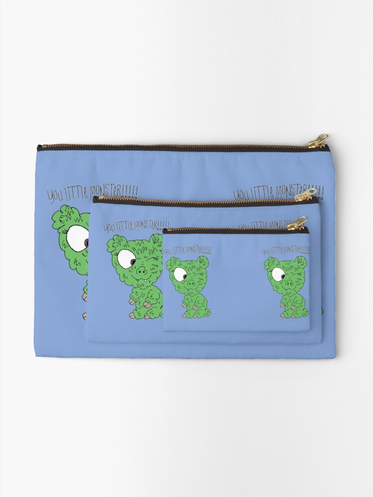 Alternate view of You Little Monster !!!!! Zipper Pouch