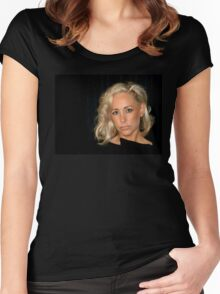Blond Woman Women's Fitted Scoop T-Shirt