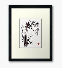 Adventurous Spirit - Sumi Sumie Ink Brush Painting Framed Print