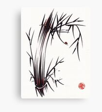 Adventurous Spirit - Sumi Sumie Ink Brush Painting Canvas Print