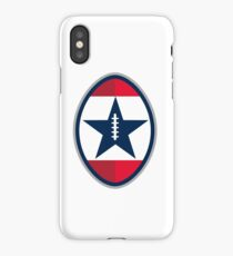 American Football Ball Star Stripes Retro iPhone Case/Skin