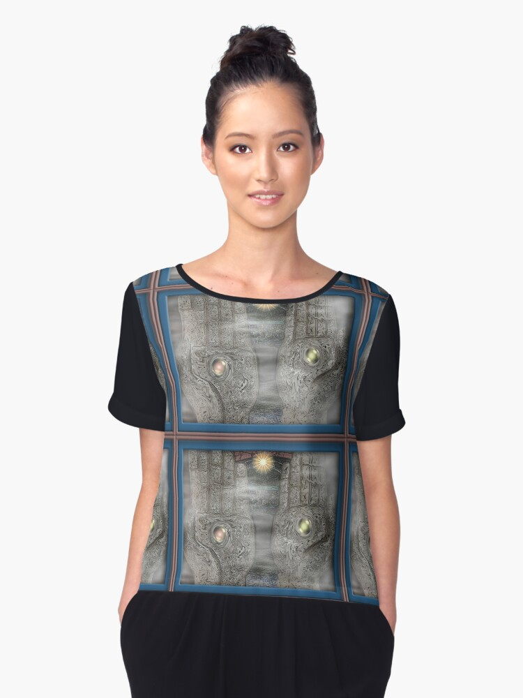 Being Centered Women's Chiffon Top Front