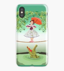 Cute halloween The crocodile girl Deadly circus iPhone Case/Skin