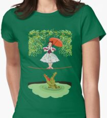 Cute halloween The crocodile girl Deadly circus Women's Fitted T-Shirt