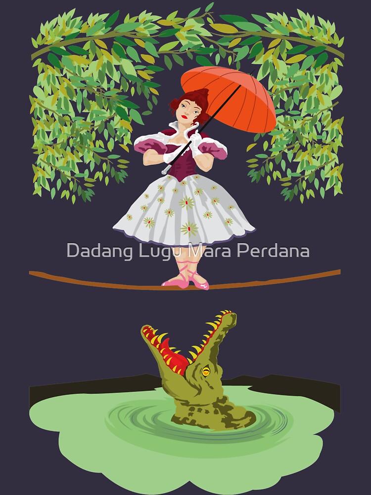 Cute halloween The crocodile girl Deadly circus by dezigner007