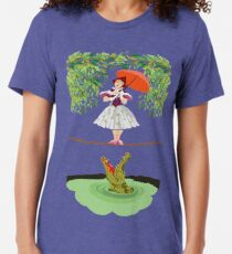 Nettes Halloween Das Krokodilmädchen Tödlicher Zirkus Vintage T-Shirt