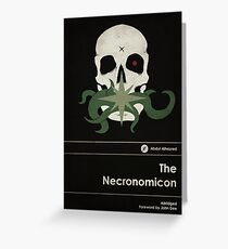 The Necronomicon Greeting Card