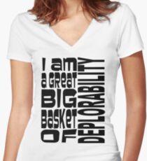 BIG BASKET 1 Women's Fitted V-Neck T-Shirt