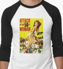 Attack Of The 50ft Woman Men's Baseball ¾ T-Shirt