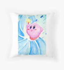 Kirby Magic! Throw Pillow