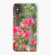 Pink flower bush iPhone Case/Skin