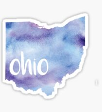 watercolor ohio Sticker