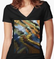 From The Painting Easel #11 Women's Fitted V-Neck T-Shirt