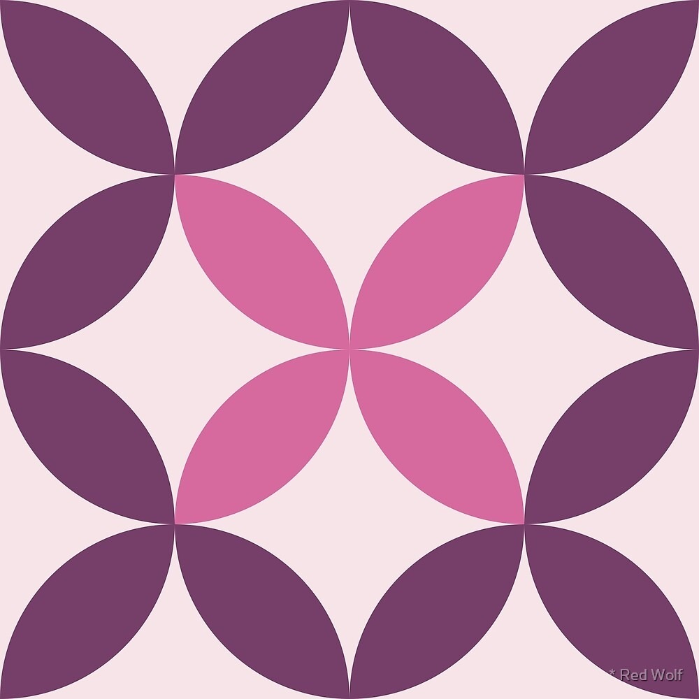 Geometric Pattern: Circle Nested: Violet by * Red Wolf