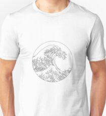 Minimalistische große Welle Unisex T-Shirt