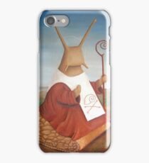 holy snail! St. Schneckbertius iPhone Case/Skin