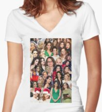 tinamy collage 2.0 Women's Fitted V-Neck T-Shirt